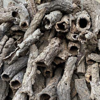 virgin cork bark tubes